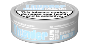 Thunder Frosted Slim White Dry 10 cans (includes free shipping)